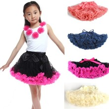 SOLID COLOR Multi-List Pettiskirt Skirt Petti Party Dance Tutu Skirts Girl 1-8Y