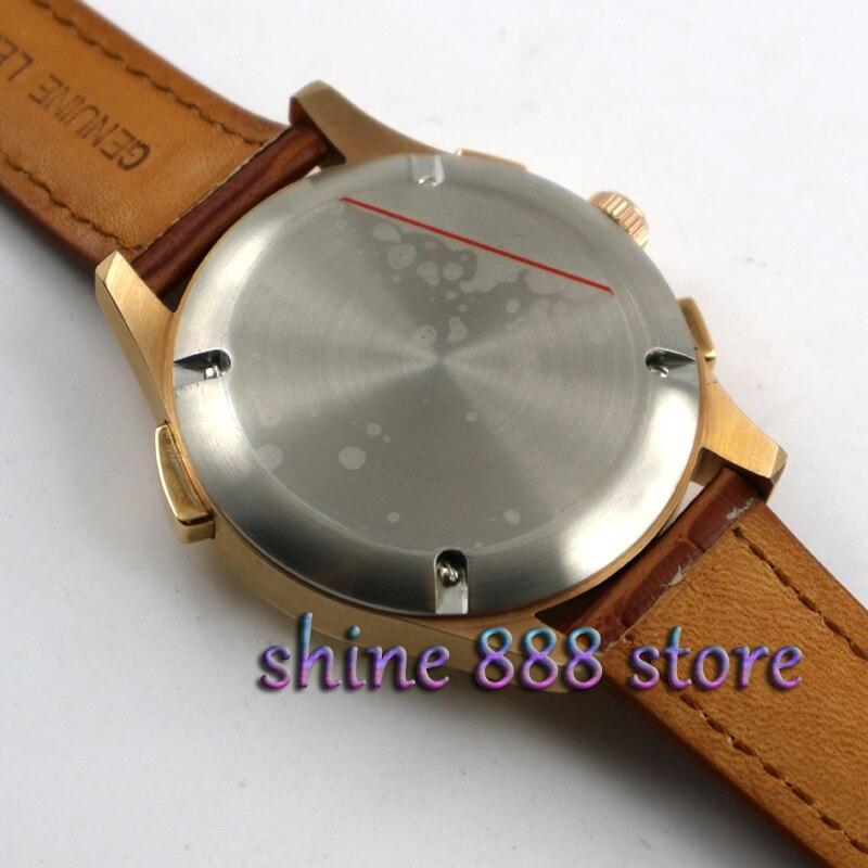 Ossna новые 42 мм Мужские Топ Роскошные часы золотой чехол белый циферблат Дата moon phase многофункциональные Мужские автоматические часы - 4