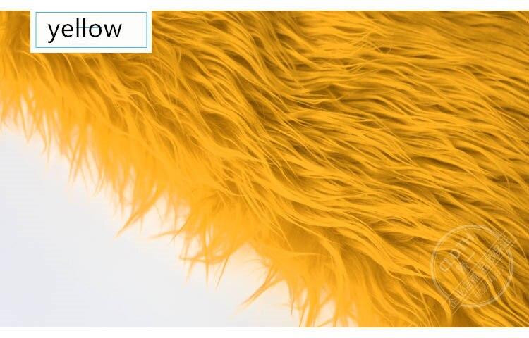 LONG Pile Fun Faux Fur Fabric Material GOLD