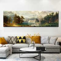 Neue Chinesische Stil Berge Und Flüsse Landschaft Wolke Meer Leinwand malerei Poster Und Drucke Für Wohnzimmer Studie Zimmer Büro HD