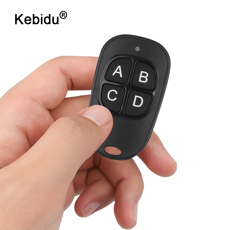 433Mhz RF Wireless Universal Cloning Key Fob Remote Control with 4 Keys 12V 27A Garage Door Gate Car Copy Code Duplicator