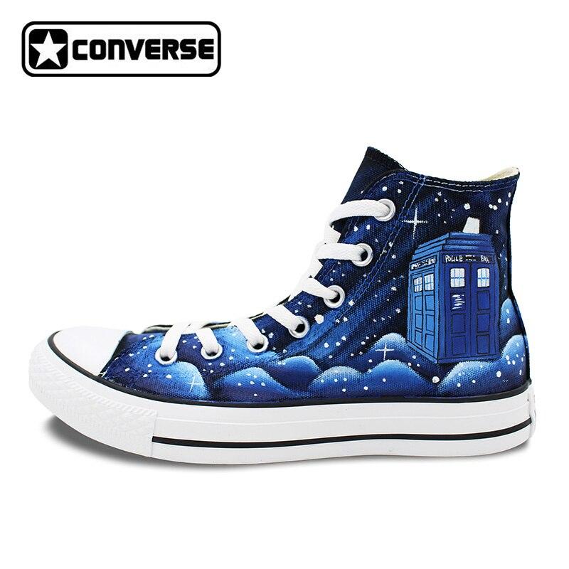 ツ)_/¯Azul Galaxy espacio policía caja Converse all star hombres ...