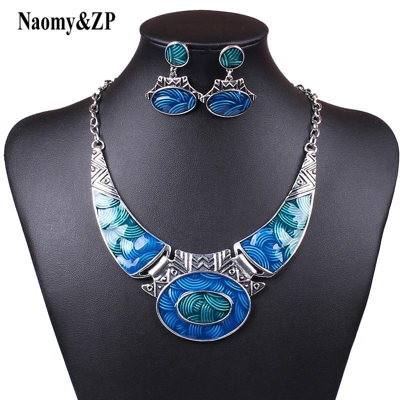 Naomy & ZP Vintage Maxi náhrdelník ženy Choker etnické prohlášení náhrdelník velký dlouhý límec česká módní náhrdelník šperky Collier