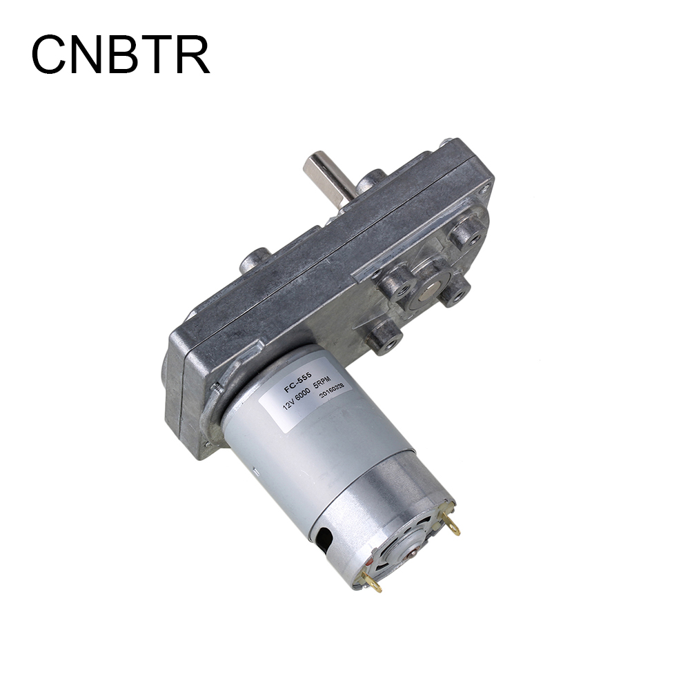 CNBTR Electric High Torque Square Gearbox Geared Motor DC 12V 5RPM Silver Metal  CNBTR Electric High Torque Square Gearbox Geared Motor DC 12V 5RPM Silver Metal
