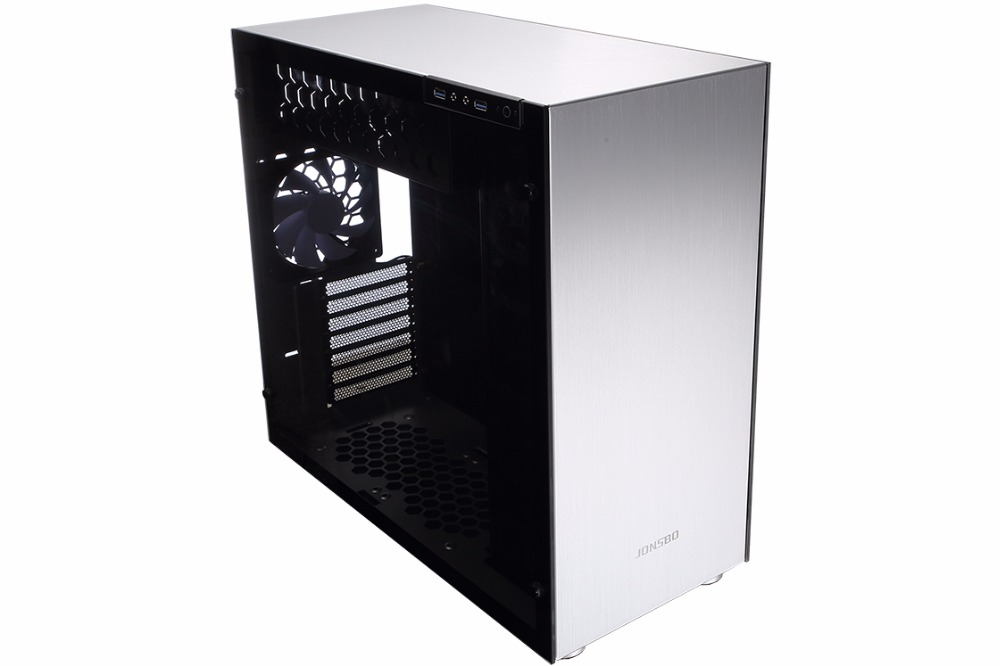 цены Jonsbo c4 chassis steel version sided glass side THROUGH support ATX motherboard supports water cooled
