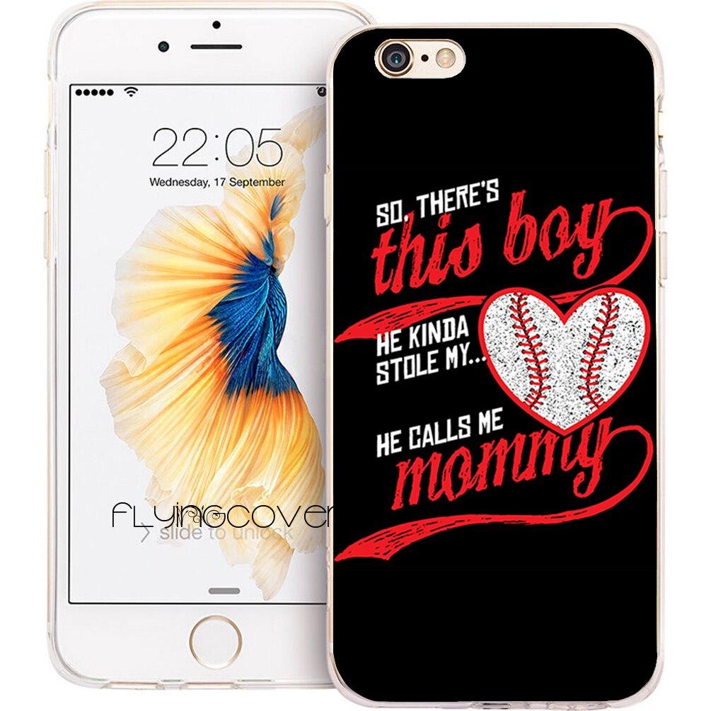 Coque черный для матери и сына Цитата Ясно Мягкий ТПУ силиконовый чехол телефона для iPhone 7 Plus чехол для iPhone 5S 5 SE 6 6 S плюс 4 4S случаях