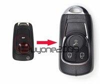 Keyecu Nieuwe Wijzigen Smart Afstandsbediening Sleutel Shell 3 Knop FOB voor Buick OHT01060512