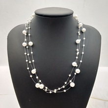 Choker Necklace For Women Long Big Statement Necklace Multilayer Imitation Pearl Necklace Fashion Jewelry Accessories