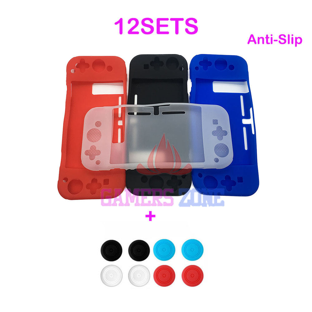 12SETS Anti slip Silicon Analog Thumbstick Grips for Nintendo Switch Console Joy Con Control Silicone Cover