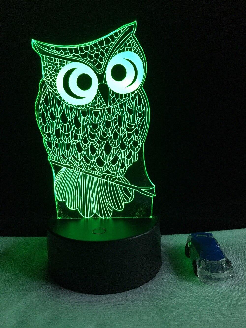 Luzes da Noite noite coruja rc toque remoto Function 1 : Led Bed Lamp/table Desk Lighting/bar Light