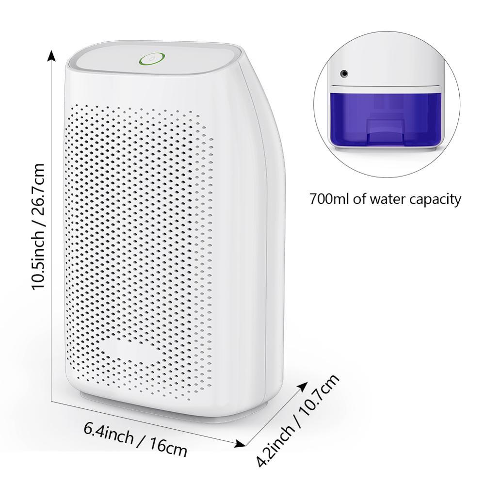 T8 700ml Home Air Dehumidifier Semiconductor Desiccant Moisture Absorber Car Mini Air Dryer Electric Cooling Machine factory pri