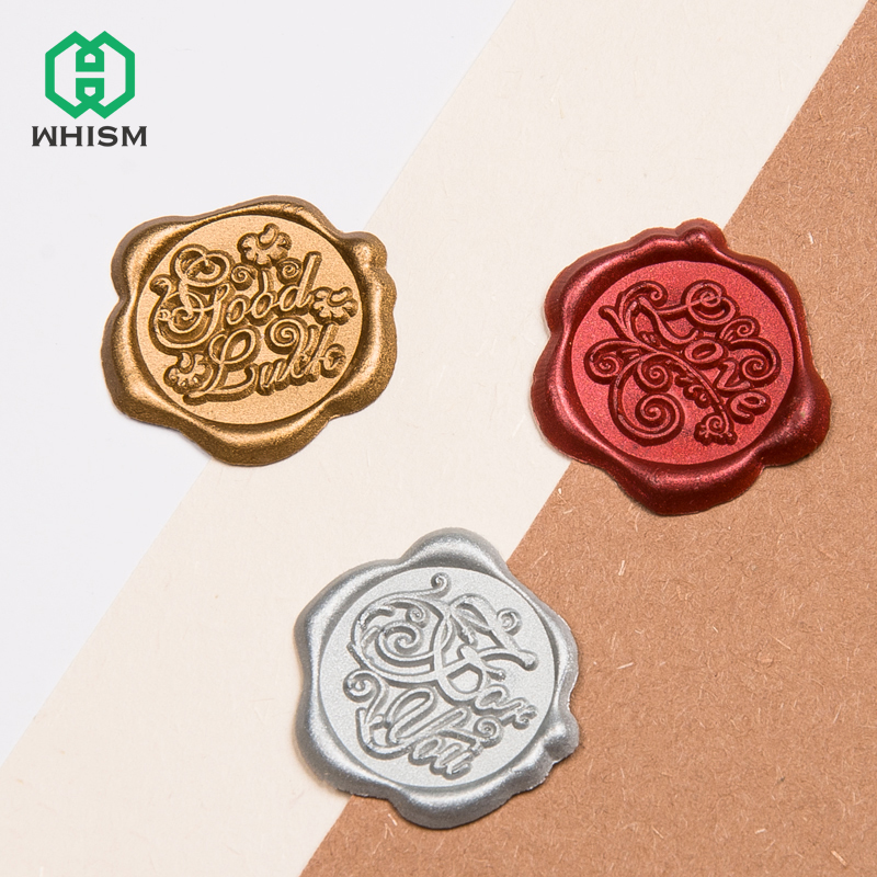 WHISM Adhesive Wax Seal Stamps Stickers Wedding Invitation Envelop Scrapbooking Craft Decorative Wax Sealing Stamps Sticker