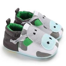 Милые Нескользящие мягкие ботиночки из искусственной кожи для маленьких девочек; зимние тапочки с рисунками животных; теплые ботиночки для малышей; обувь для малышей;# T