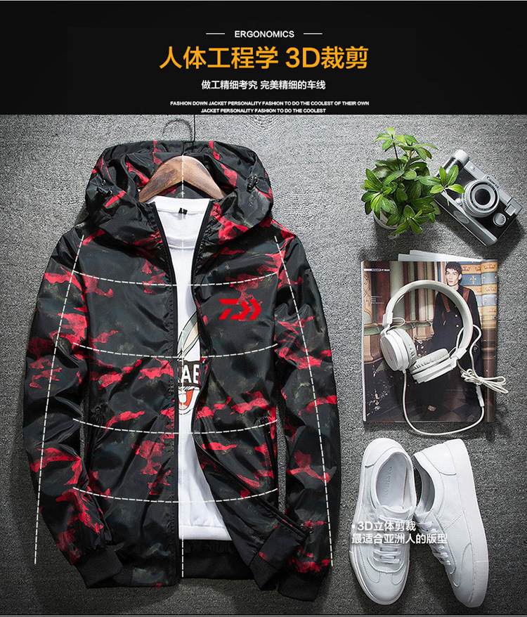 Design; In Fast Deliver 2018 Daiwa Soft Shell Fleece Fishing Jackets Autumn Winter Men Camouflage Daiwa Fishing Clothing Waterproof Vest Man Down Coats Novel