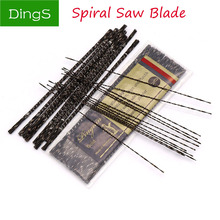 12pcs Wood Saw Blades Scroll Jig Spiral Teeth 130mm 1#-8# Kinds Steel Wire Metal Cutting Hand Craft Tools For Carving