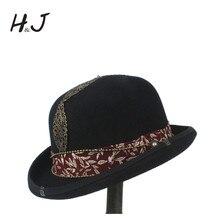 c5c7603c205e77 100 Wool Women Men Black Bowler Hat Gentleman Steampnk CrushableTraditional Billycock  Groom Hats Size S M
