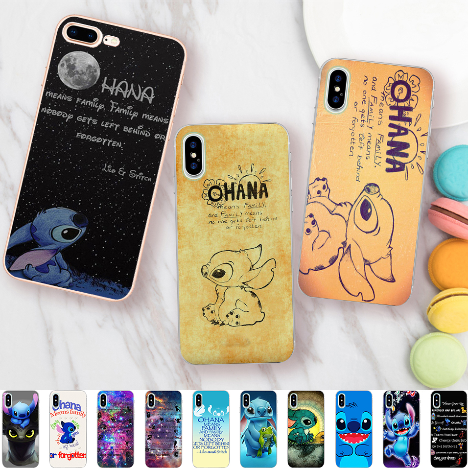 Cellphones & Telecommunications Iretmis 5 5s Se 6 6s Soft Silicone Rubber Phone Case Cover For Iphone 7 8 Plus X Xs Max Xr Ohana Means Family Lilo Stich Quote Phone Bags & Cases