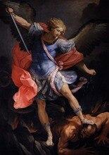 Guido Reni: The Archangel Michael Defeating Satan SILK POSTER Decorative painting  24x36inch reni parfum r 466