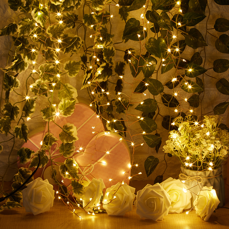 Led String Fairy Lights 200 LED hecho punto 4M / 12Ft Remote Dimmable - Iluminación de vacaciones - foto 5