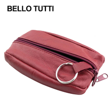 BELLO TUTTI Genuine Leather Mini Coin Purses Women's Change Purse Money Bags Pocket Wallets Key Case Pouch Zipper Small Bag women short coin pouch purse kawaii girls small change wallets bag embossed 3 folds pu leather purses lby2017