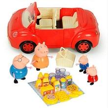 Свинка Пеппа Полная серия кукла автомобиль семьи детский стол развивающие фигурки Оригинальные Плюшевые игрушки и Peppa Друзья модель