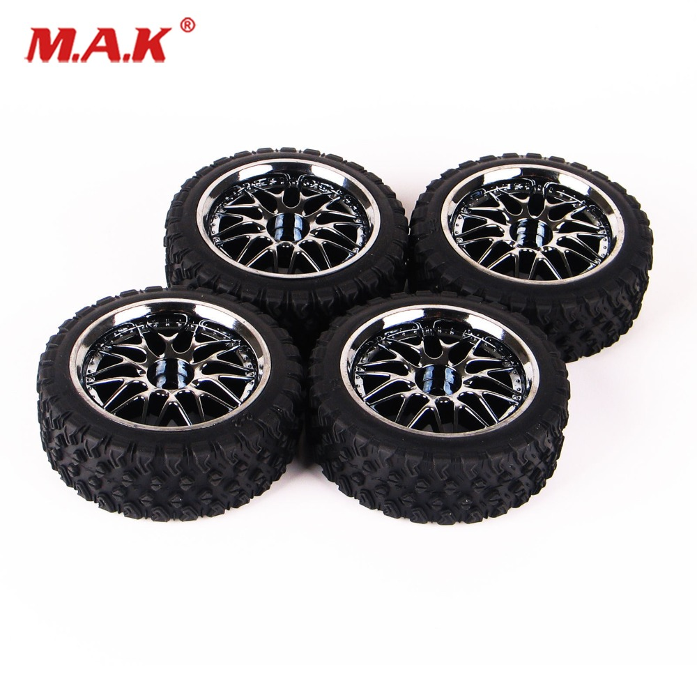 Rc 1/10 Buggy Off-Road Car Tires Front Rear Tyre Wheel Rim Set 12mm Hex For HSP HPI Tyres