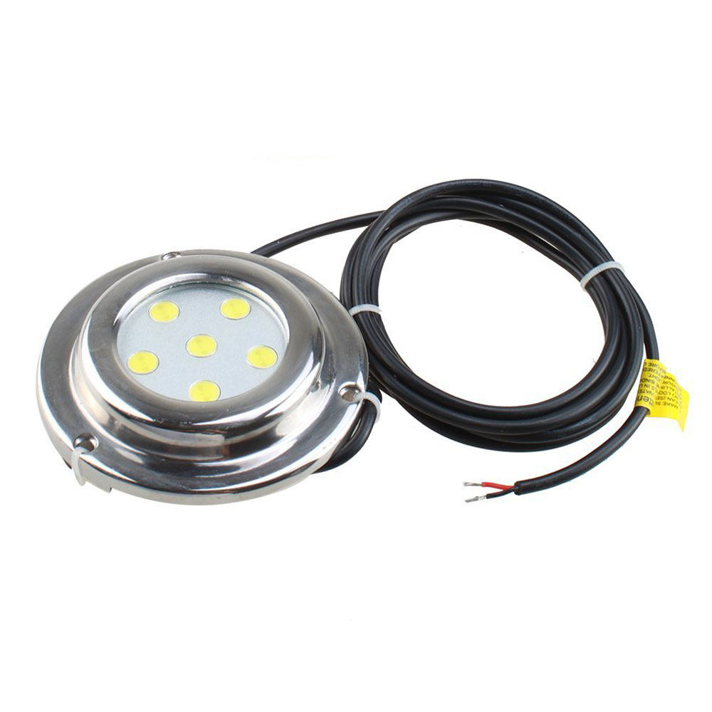 Brand New 6*1w White Stainless Steel IP68 Waterproof LED Marine Underwater Light Boat Yacht light