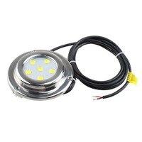 Marke Neue 6*1w Weiß Edelstahl IP68 Wasserdichte LED Marine Unterwasser Licht Boot Yacht licht-in Unterwasserbeleuchtung aus Licht & Beleuchtung bei