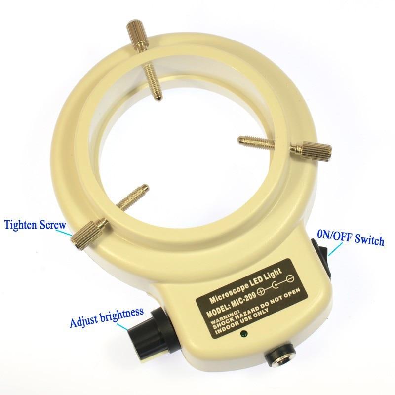 Állítható 6500K144 LED gyűrűs világító lámpa ipari sztereo - Mérőműszerek - Fénykép 5