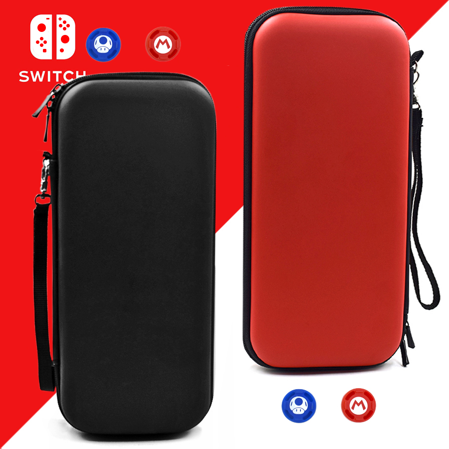 Nitend Switch Storage Case, Nintendos Nintend Switch Portable Carry  Bag with Silicone Thumbstick Grip Caps for Nintendo Switch