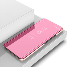 OPPOA71 Mirror Flip Case For OPPO A71 A 71 Luxury Clear View PU Leather Cover Smart phone