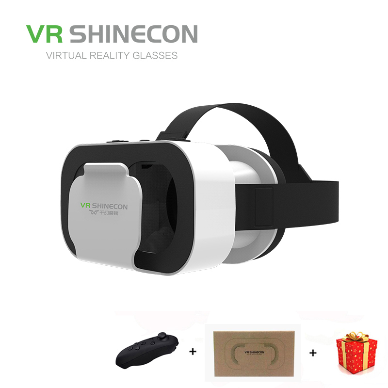 Casque Headset Vr Box Shinecon Virtual Reality Glasses 3D Helmet 3 D Google Cardboard For Smart Phone Smartphone Lens Daydream hot 2018 original shinecon vr google cardboard vr box with headphone vr virtual reality 3d glasses for 4 7 6 0 inch phone
