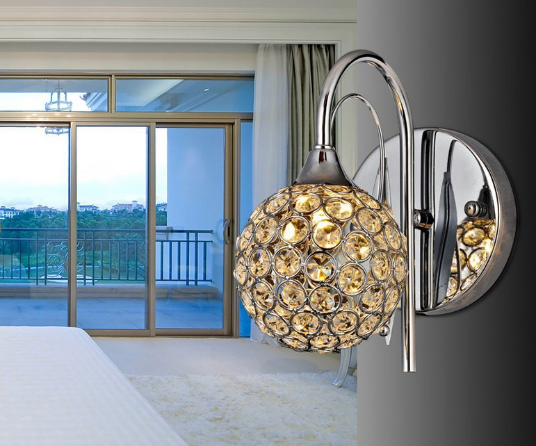 ?Modern Crystal Wall ? Lamp Lamp Sconce K9 G9 Bed room Stairs Stairs Aisle chandelier wall ...