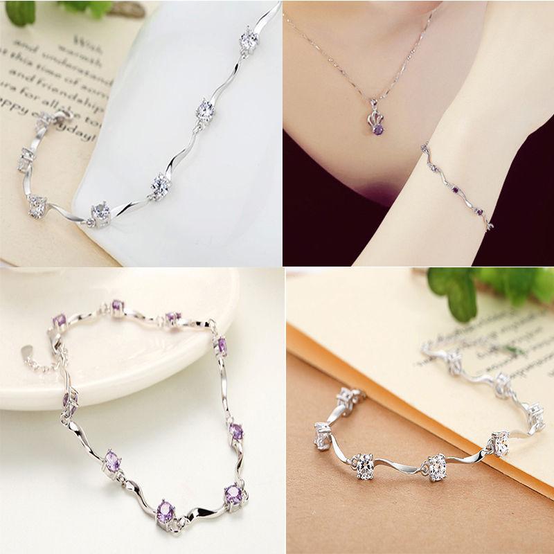 Honest Zircon Chain Bracelet Gift Fashion Women Wristband Jewelry Gift Pretty Nice Gl Bracelets