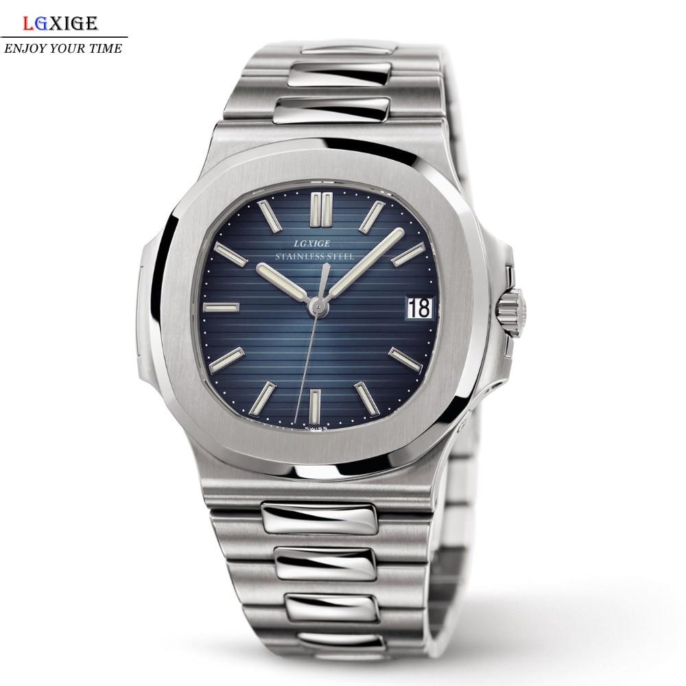 Gran oferta relojes de lujo de alta calidad para hombre, relojes azules de acero inoxidable, nautilus, marca de lujo Audemars reloj 2019