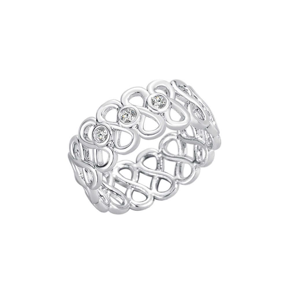 Cxwind модное кольцо с кристаллами бесконечность кольца вечности лучший друг лучший подарок бесконечный символ любви кольцо для женщин
