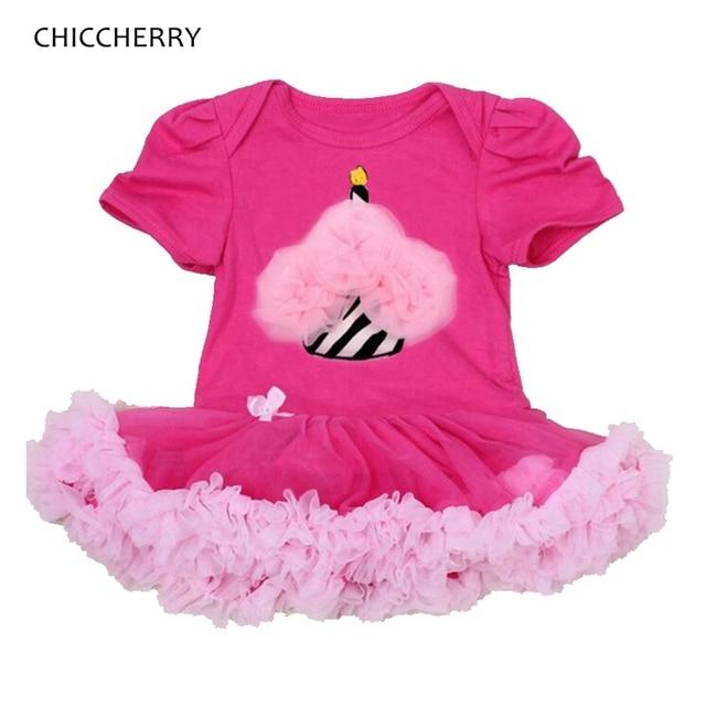 b5981484e8c0 Lace Ruffle Cupcake Applique Toddler Birthday Outfits Baby Girl Dress Romper  Vestidos Infantis Girls Dresses Infant