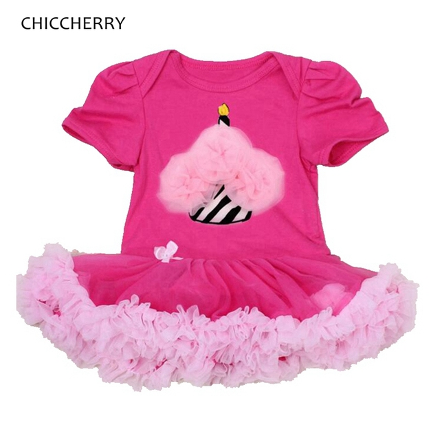 Rendas Ruffle Apliques Queque Aniversário Da Criança Outfits Romper o Vestido Da Menina Do Bebê Vestidos Infantis Vestidos de Meninas Roupa Infantil