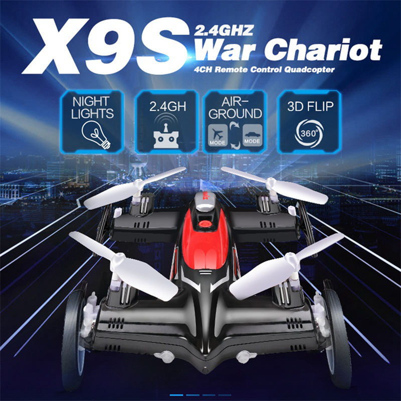 SYMA X9/ SYMA X9S  Quadcopter Fly Car 2.4G 4CH  Remote Control Flying Car Aeromodelo For Child Profissional 2.4G 4CH 6-Axis dron flying 3d fy x8 018 flying control unit for fy x8 quadcopter