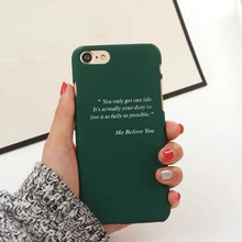 1 Pc/lot Hard PC Green Color Me Before You English Letter Cell Phone Case Back Cover for iPhone 7 6s Plus 5s SE(China)