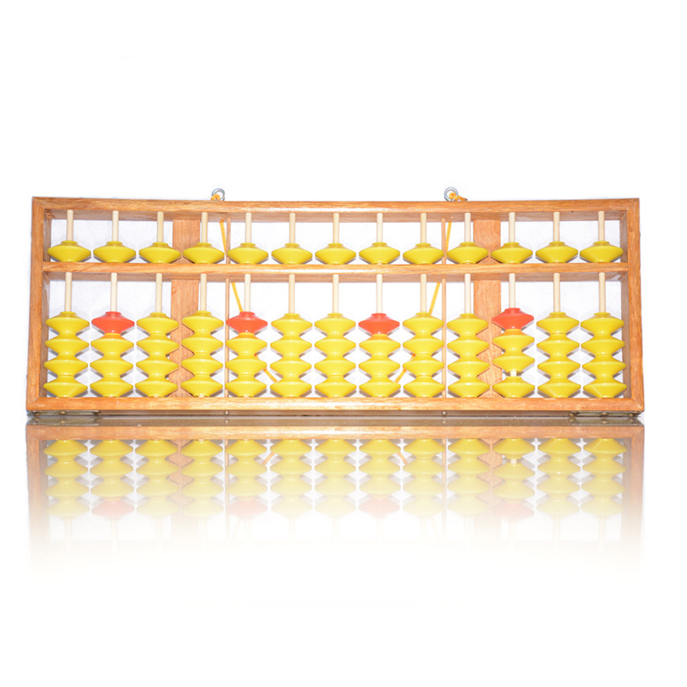 Lomalson Abacus ressources d'apprentissage 13 colonne chinois Soroban caculateur classique en bois éducatif comptage jouet Maths apprentissage - 6