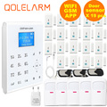 Free Aliexpress Shipping 433MHZ Wireless WIFI Home Security Alarm System IOS/Android APP Remote Control Touch Keyboard SIM alarm