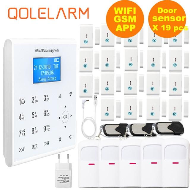 Freies Aliexpress Verschiffen 433MHZ Drahtlose WIFI Home Security Alarm System IOS/Android APP Fernbedienung Touch Tastatur SIM alarm