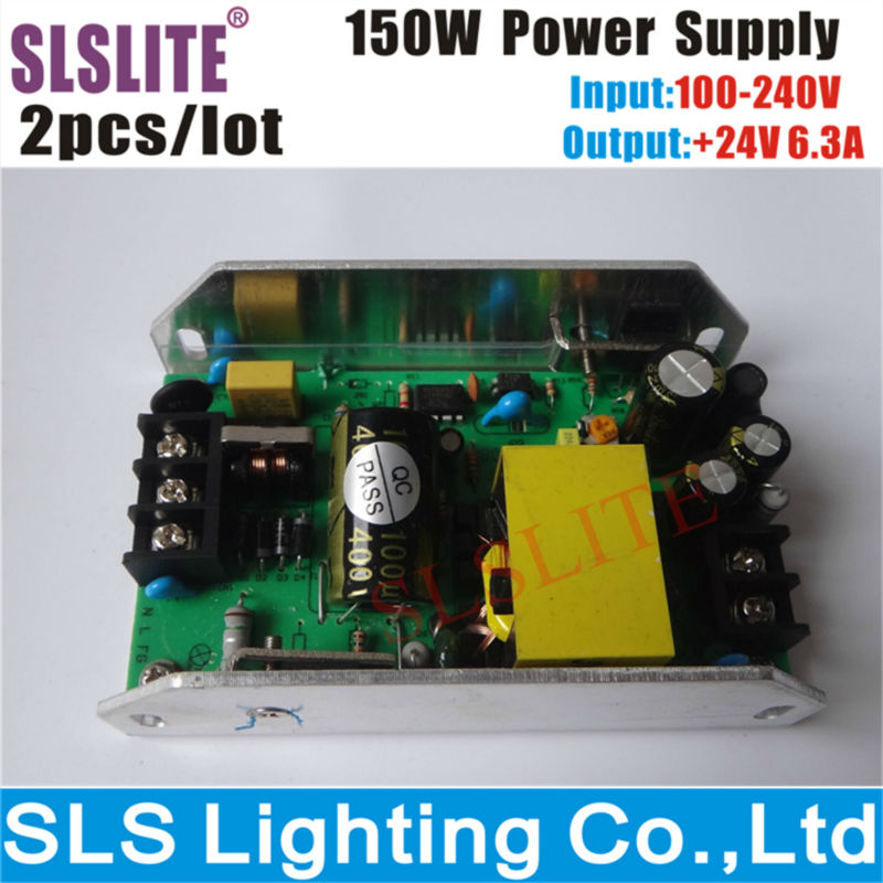 2pcs/lot power supply 150w input 100~240v output 24v for 54pcs <font><b>led</b></font> <font><b>par</b></font> can Stage Disco DJ Party Lighting Accessories & <font><b>Parts</b></font> image