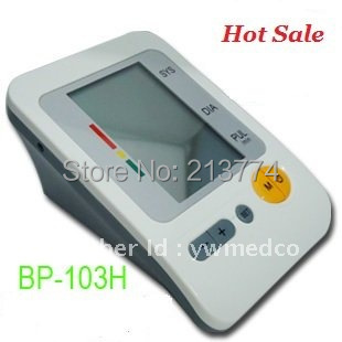 Free Shipping BP-103H Portable Home Digital Arm Blood Pressure Monitor Heart Beat Meter with LCD Display in 4X30 memories,