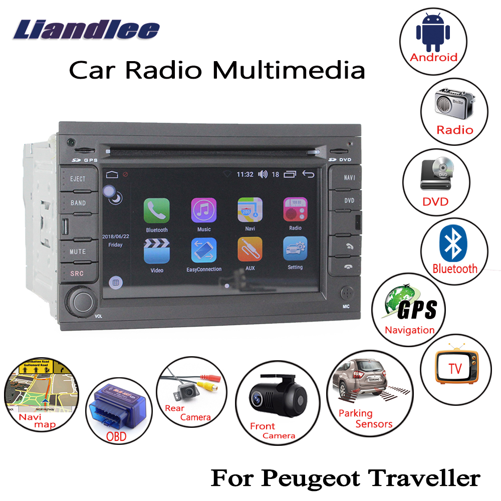 Liandlee Android автомобиль для peugeot Traveller 2007 ~ 2015 радио CD DVD плеер gps Navi Nav навигации карты камера OBD ТВ HD экран