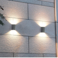 lumiere exterieur lampe waterproof up and down garden outside wall porch lamp scone focos led 220v exterior buiten verlichting