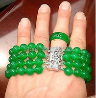 Bất natural hạt peru trinh Đẹp 8 mét màu xanh lá cây đá quý vòng đeo tay vòng 8 # set bangle bán buôn vòng đeo tay Giá R