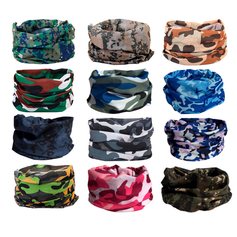 Bandana Camo Headwear Bandanas Sport Men Women Camouflage Head Scarf Cycling Shemagh Face Mask Balaclava Tactical Neck Warmer