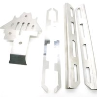 For Traxxas4 Trx 4 Stainless Steel Side Pedal Chassis Armor Protective Board Set Modified Upgrade Accessories